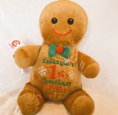 Personalised Christmas Gingerbread Man Cubbie (Bowie)
